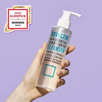 rovectin Rovectin Conditioning Cleanser is a gentle, low-pH, hydrating cleanser. It safely washes away daily grime without stripping your skin of its protective moisture barrier. The best part? No more tight skin after cleansing.
